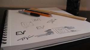 ev2 agency logo sketches