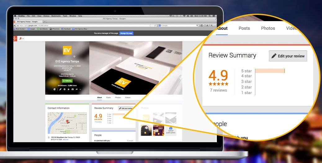 Gain online business reviews