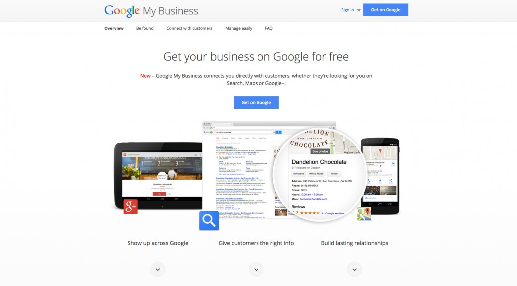 Google My Business Sign Up
