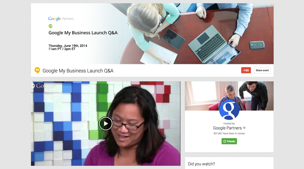 Google My Business Webinar