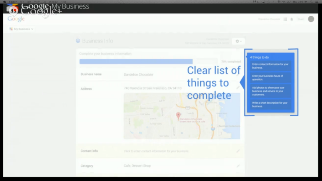 Google My Business List of things to complete
